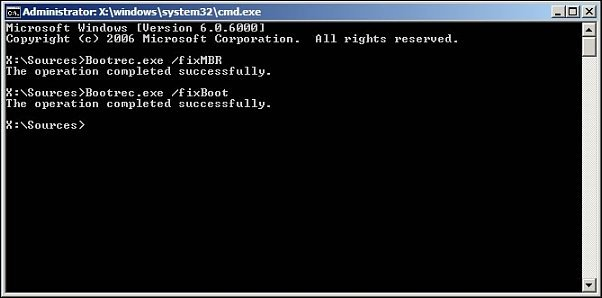 how to fix mbr windows 10 boot using recovery media